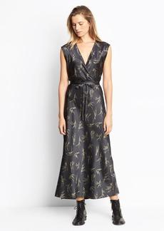 Floral Crossover Slip Dress