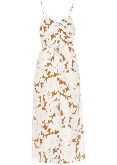 Vince Floral crêpe midi dress