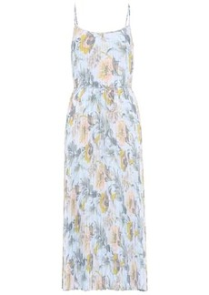 Vince Floral pleated slip dress