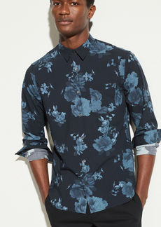 Vince Floral Print Long Sleeve