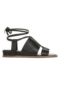 Vince Forster Leather Ankle Wrap Sandals