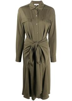 Vince front knot shirt dress