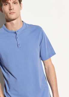 Vince Garment Dye Short Sleeve Henley