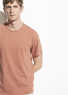Vince Garment Dye Stripe Short Sleeve Crew