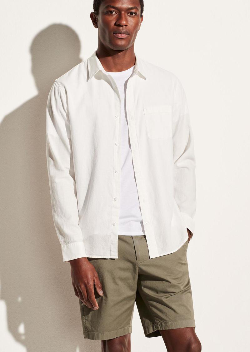 Vince Garment Dye Twill Long Sleeve