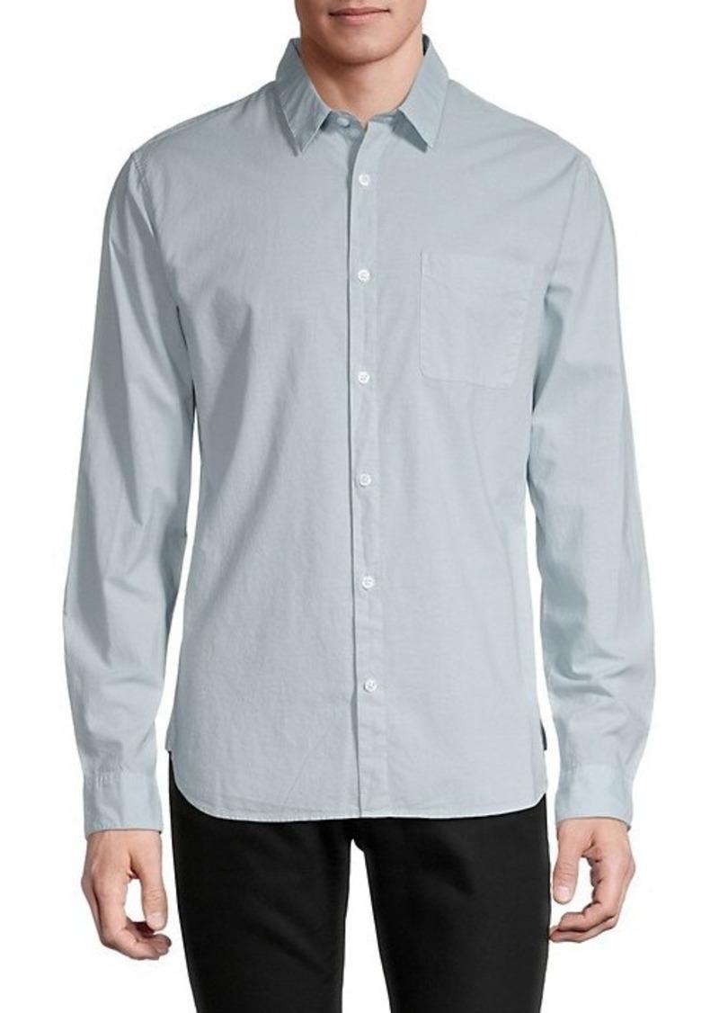 Vince Garment-Dyed Button-Down Shirt