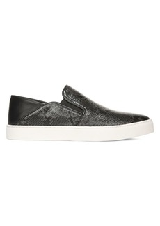 Vince Garvey Python-Embossed Leather Sneakers