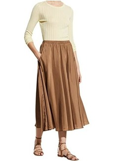 Vince Gathered Pull-On Skirt