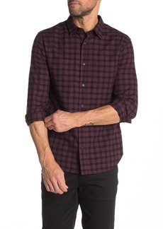 Vince Gingham Plaid Classic Fit Shirt
