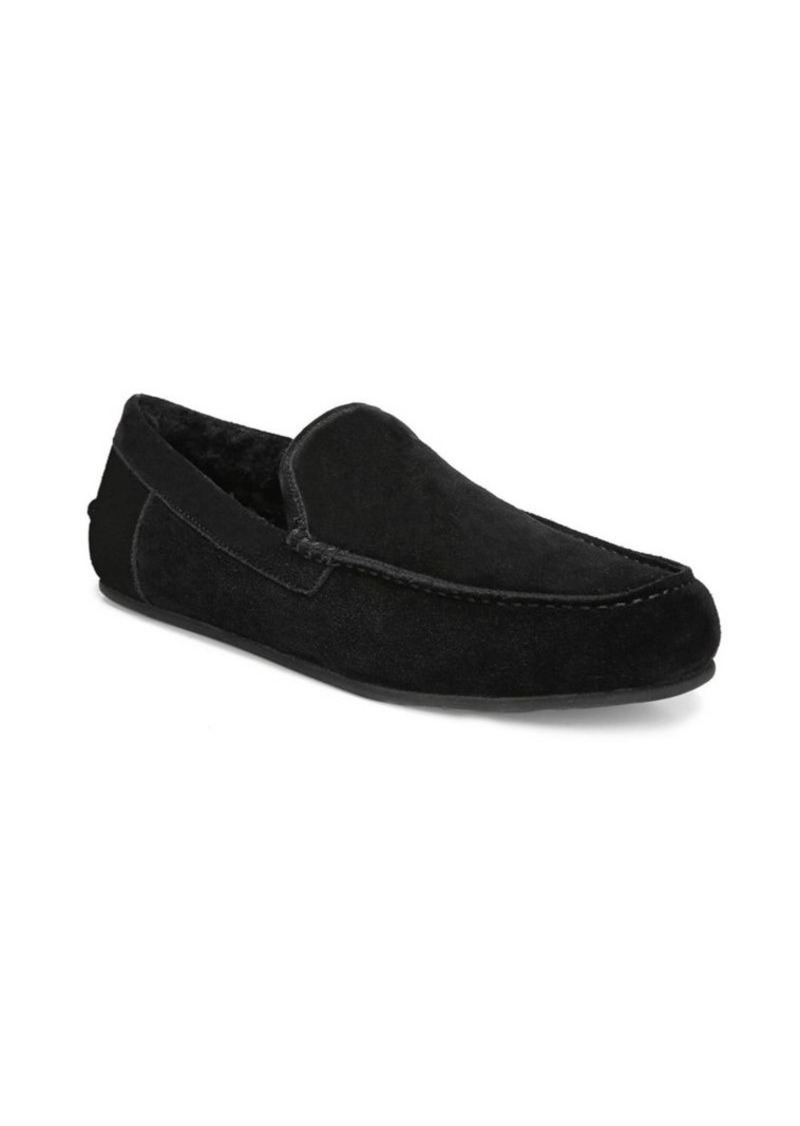 Vince Gino Lamb Shearling-Lined Suede Slippers