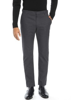 Vince Griffith Slim Fit Microcheck Stretch Cotton Chino Pants