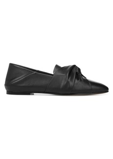 Vince Haddie Ruched Knot Leather Flats