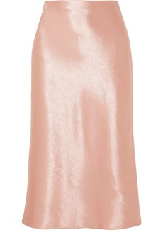 Vince Hammered-satin Skirt
