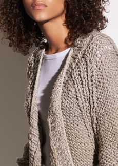 Vince Hand-Knit Organic Cotton Chunky Cardigan