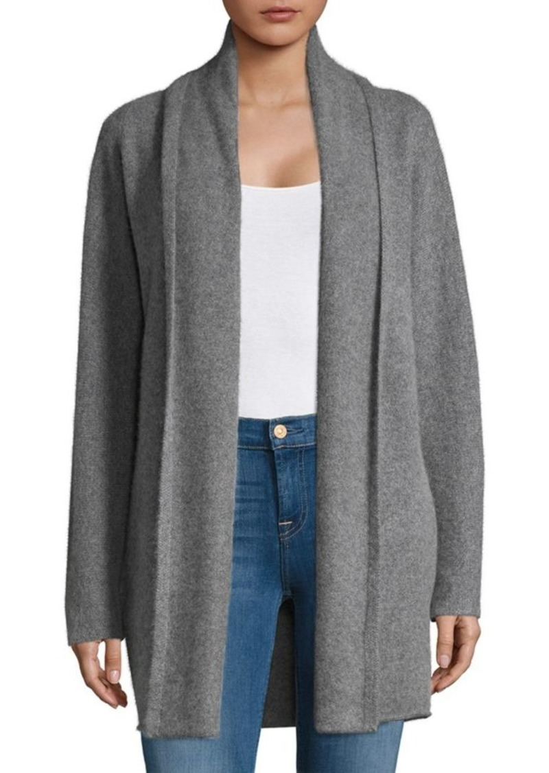 d0a9b9bfc1 Vince Heathered Open Front Cashmere Cardigan