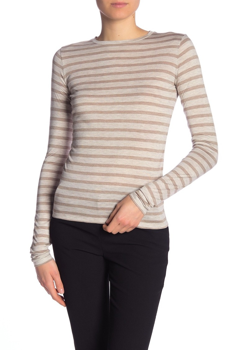 Vince Heathered Stripe Long Sleeve T-Shirt