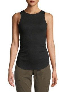 Vince High-Neck Sleeveless Tank Top