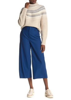 Vince High Rise Cropped Wide Leg Wool Blend Pants
