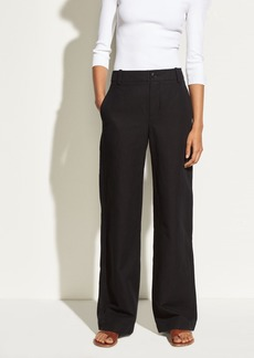 High-Rise Linen and Cotton Wide Leg