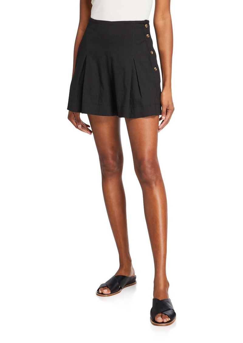 Vince High-Rise Pleat-Front Shorts