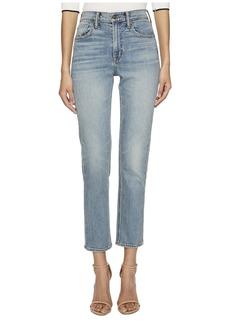 Vince High-Rise Straight Leg Jeans in O'Keefe