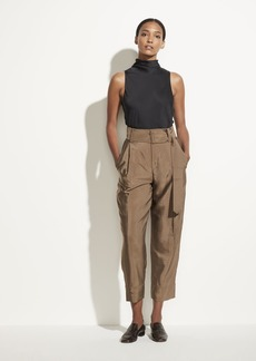 Vince High Waist Belted Tapered Pant