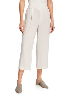 Vince High-Waist Pleated Ankle Culotte Pants