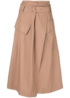 Vince high-waisted midi skirt