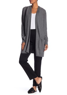 Vince Hooded Shawl Collar Cashmere Cardigan
