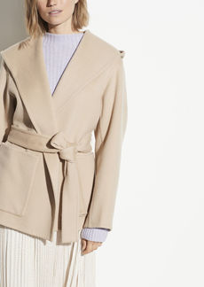 Vince Hooded Wool Cashmere Coat