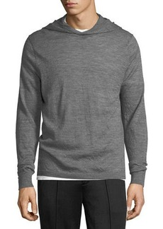 Vince Hooded Wool Pullover Sweater