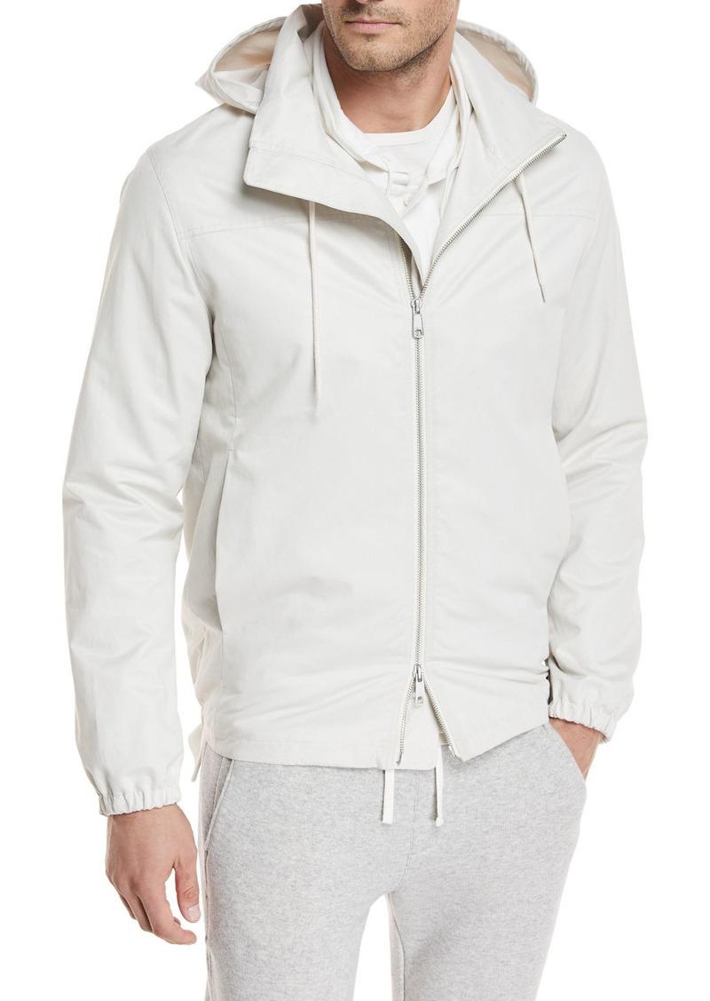 Vince Hooded Zip-Front Jacket