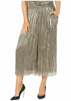 Vince Iridescent Pleated Culottes