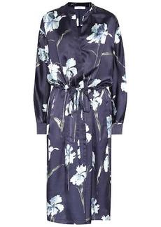 Vince Iris floral-print satin dress