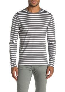 Vince Jersey Striped Long Sleeve T-Shirt