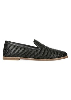 Vince Jonah Woven Leather Loafers