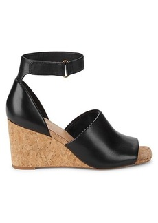 Vince Kensey Leather Ankle-Strap Wedge Sandals