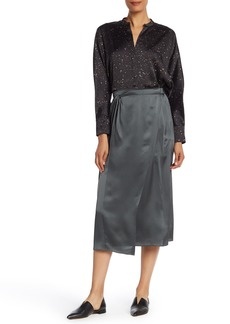 Vince Knot Paneled Silk Skirt