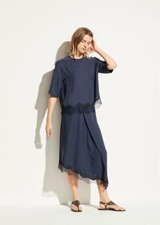 Vince Lace Trim Wrap Skirt