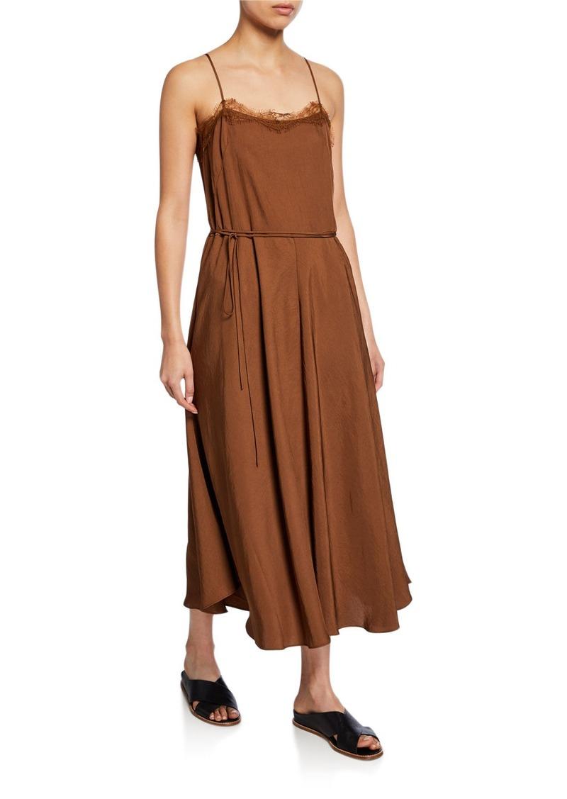 Vince Lace Trimmed Cami Dress