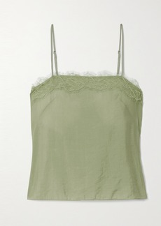 Vince Lace-trimmed Satin Camisole