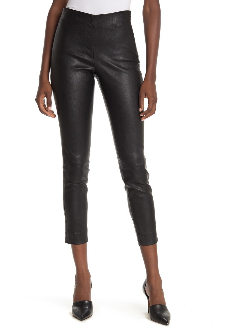 Vince Lambskin Leather Crop Leggings