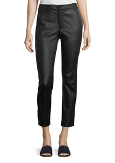 Vince Leather Coin-Pocket Straight-Leg Pants