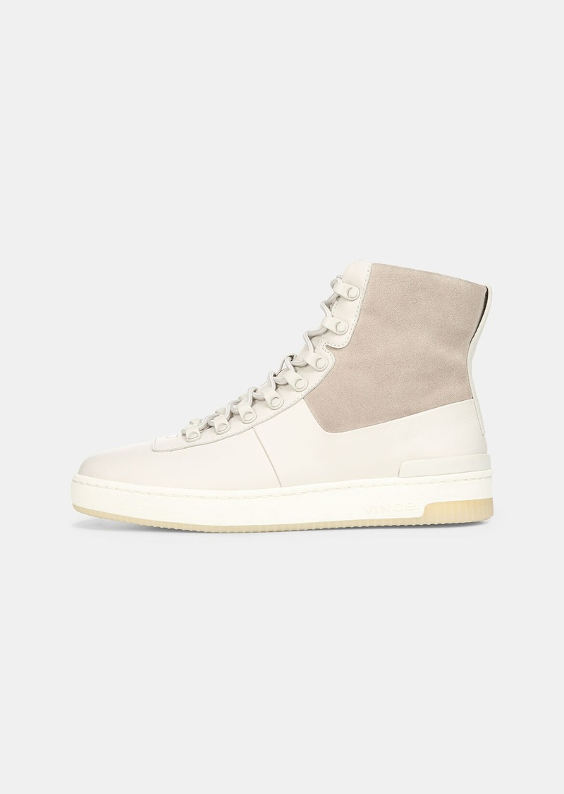 Vince Leather High-Top Rowan Sneaker
