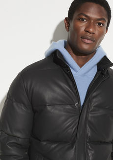 Vince Leather Puffer Jacket