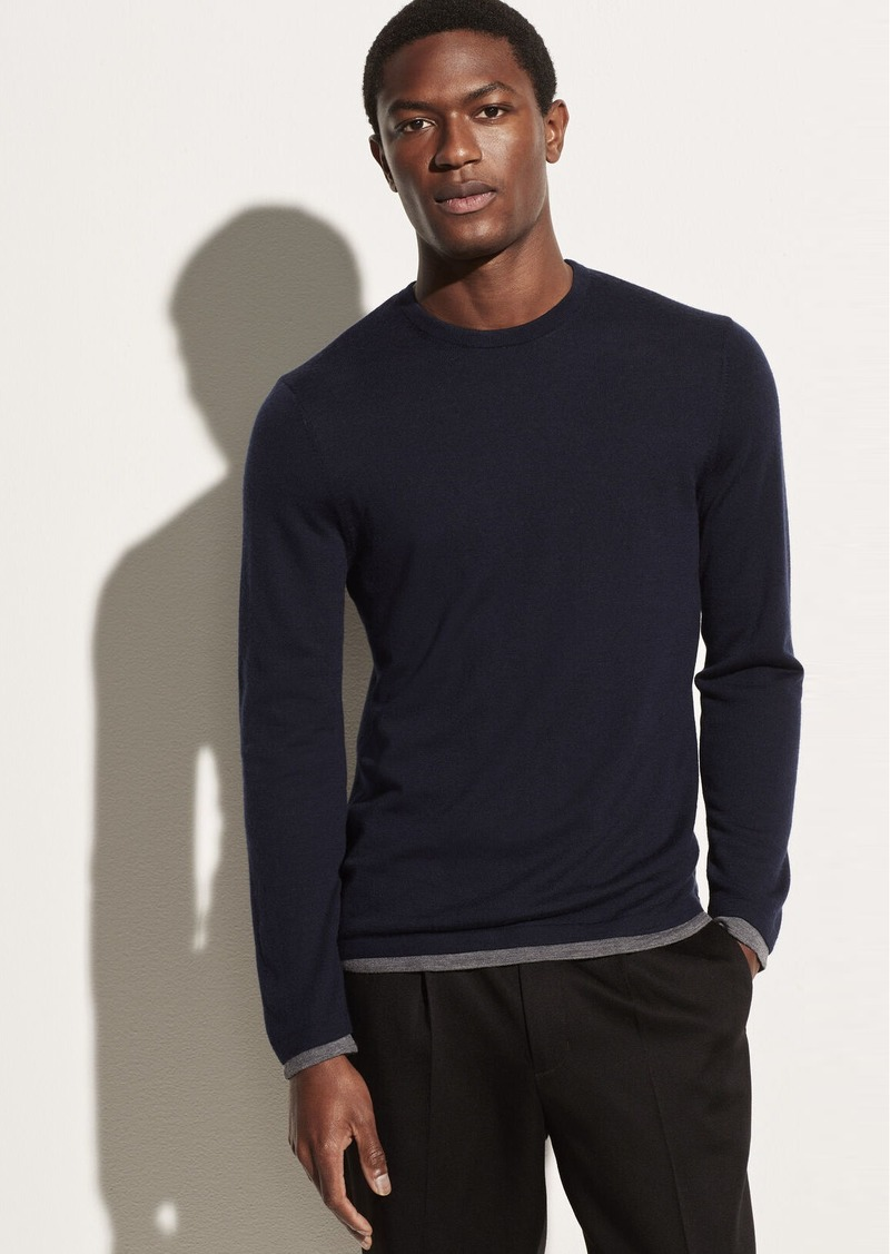 Vince Lightweight Double Layer Crew
