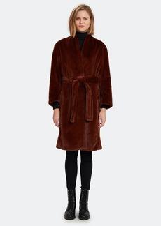 Vince Long Plush Faux Fur Coat