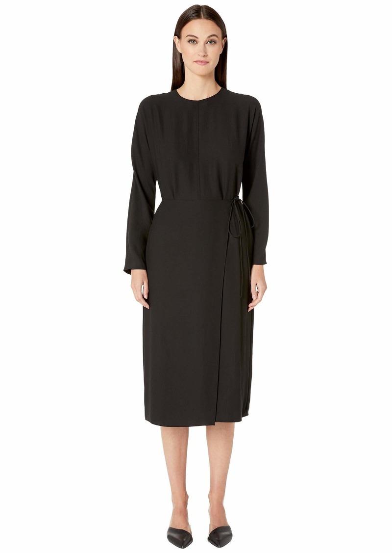 Vince Long Sleeve Button Dress