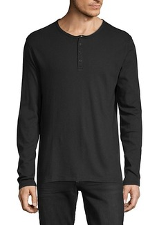 Vince Long-Sleeve Cotton Henley