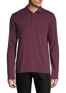 Vince Long-Sleeve Cotton Polo